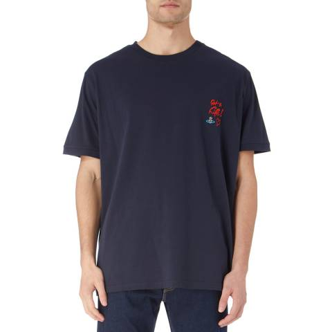 Vivienne Westwood Navy Oversized Cotton Logo T-Shirt