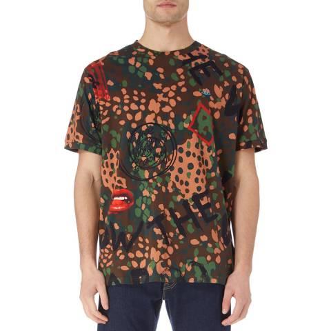 Vivienne Westwood Multi Camo Oversized Cotton Logo T-Shirt