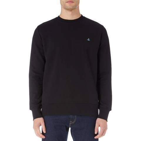 Vivienne Westwood Black Logo Cotton Sweatshirt