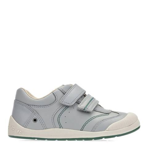 Start-Rite Grey Tough Bug Leather Shoes