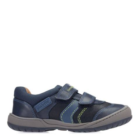 Start-Rite Navy Flexy Tough Leather Shoes