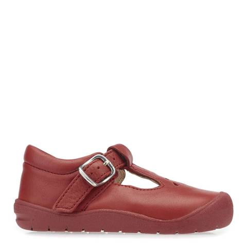 Start-Rite Red First Evy Leather Shoes