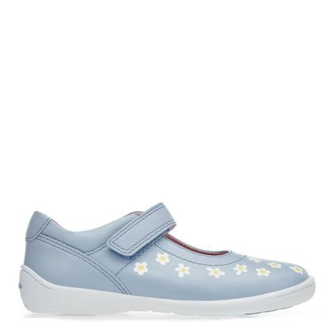 Start-Rite Blue Shrine Leather Daisy Shoes