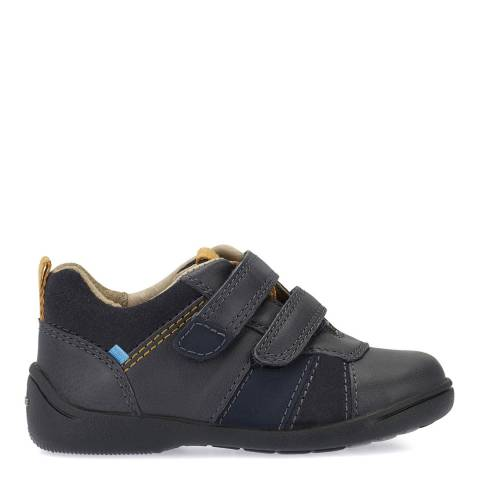 Start-Rite Navy Grip Leather Shoes