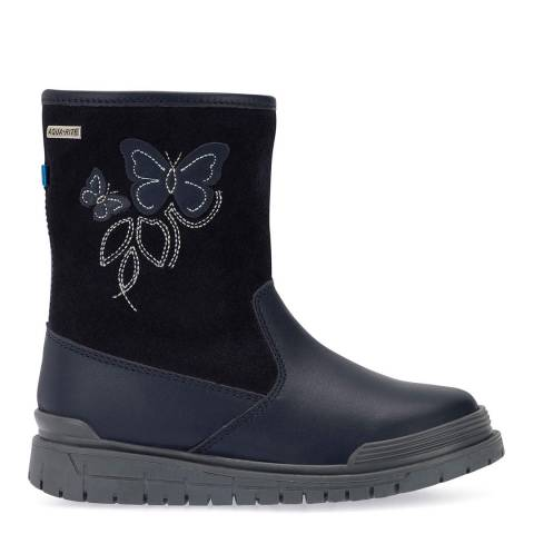 Start-Rite Navy Tidal Leather Boots