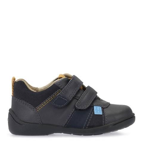 Start-Rite Dark Grey Grip Leather Shoes