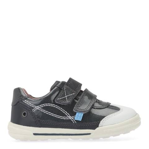 Start-Rite Grey Flexy Soft Turin Leather Patent Shoes