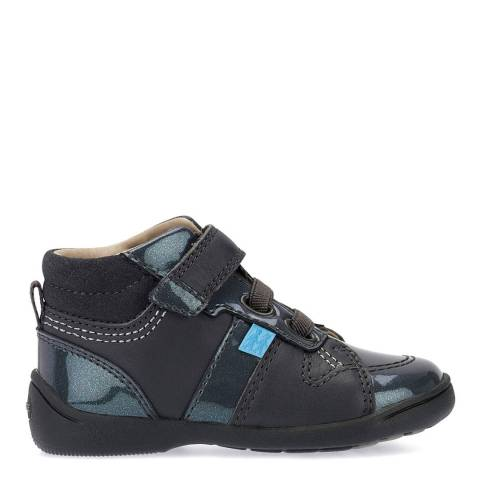 Start-Rite Grey Drift Leather Patent Shoes