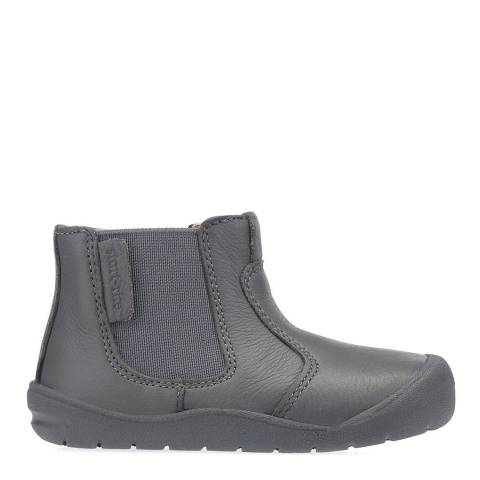 Start-Rite Grey Chelsea Leather Boots