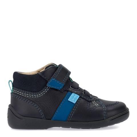 Start-Rite Navy Drift Leather Shoes