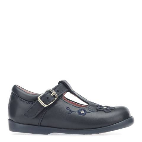Start-Rite Navy Sunflower Patent Leather Shoes