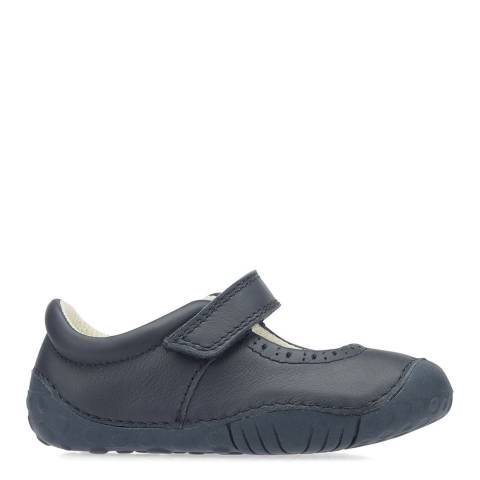 Start-Rite Navy Cruise Leather Shoes