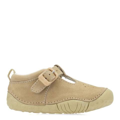 Start-Rite Baby Light Brown Jack Leather Shoes