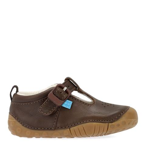 Start-Rite Baby Brown Jack Leather Shoes