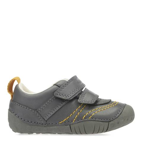 Start-Rite Grey Leo Leather Shoes