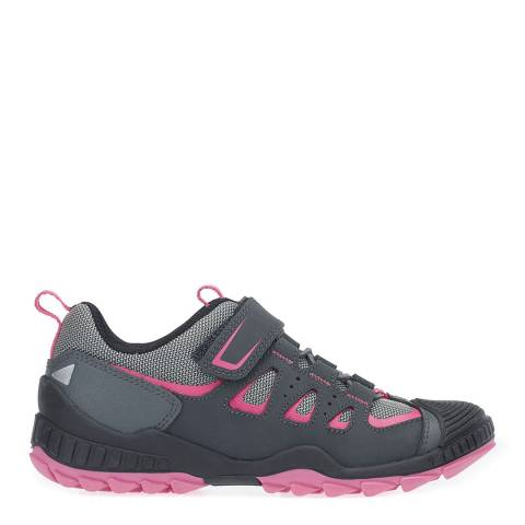 Start-Rite Grey/Pink Charge Textile Trainers