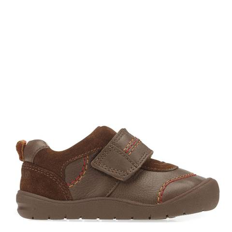 Start-Rite Brown First Zak Leather Shoes