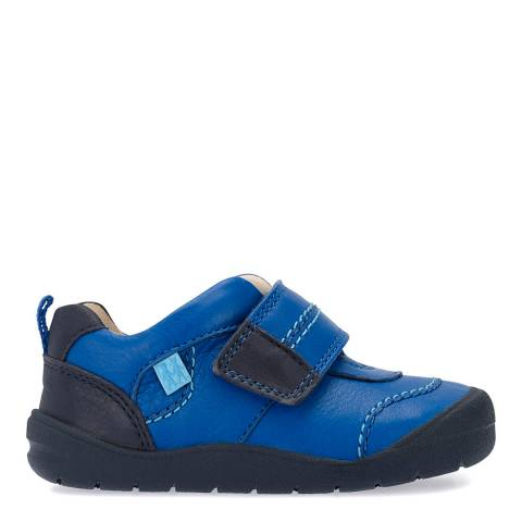 Start-Rite Blue First Zak Leather Shoes
