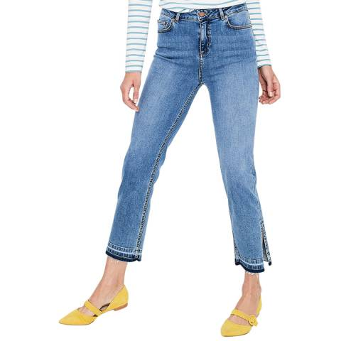 Boden Blue Salisbury Side Split Jeans