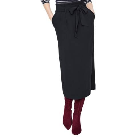 Boden Black Melina Paperbag Skirt