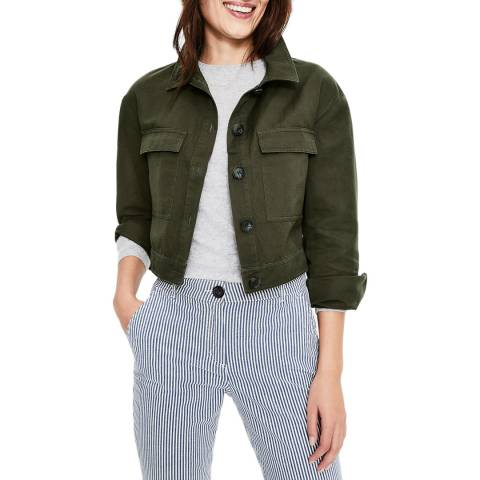 Boden Cropped Utility Jacket