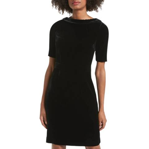 Boden Black Velvet Martha Dress