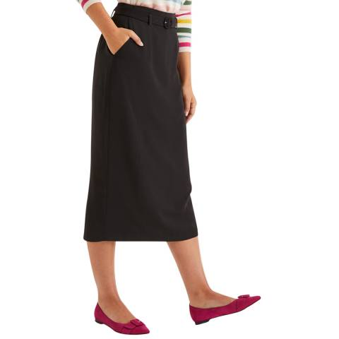 Boden Black Christina Belted Skirt