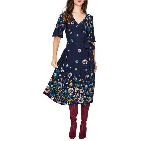 Boden Navy Emilie Midi Dress