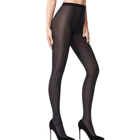 Wolford Black/White Muriel Tights