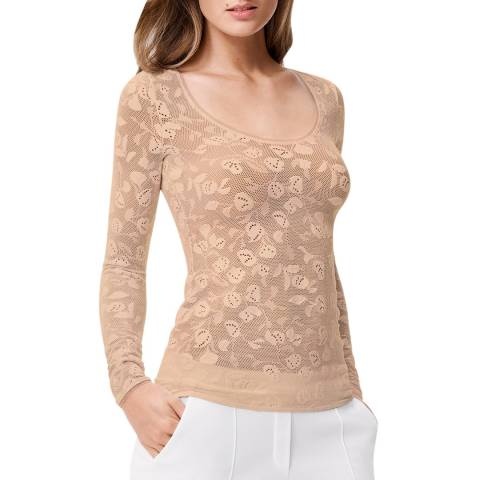 Wolford Toasted Almond Rachel Fitted Pullover