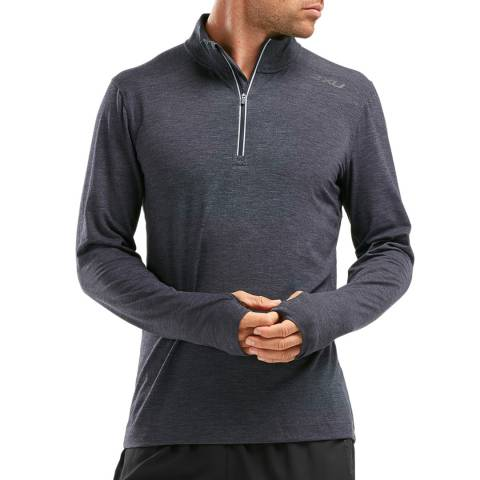 2XU Grey Heat 1/4 Zip Top