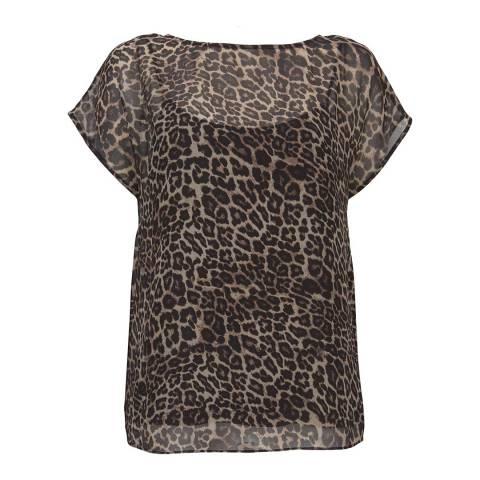 Mint Velvet Tessa Leopard Print Top