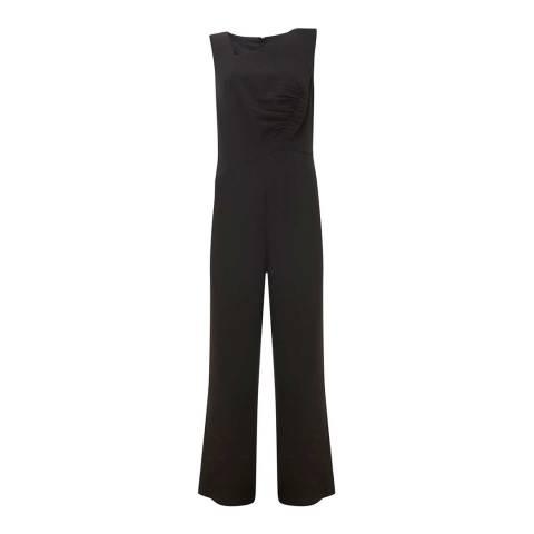 Mint Velvet Black Ruched Jumpsuit