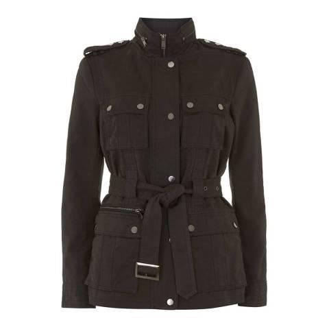 Mint Velvet Black Belted Jacket