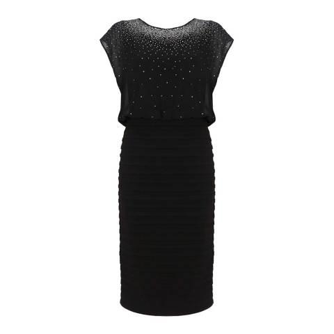 Mint Velvet Black Sequin Bandage Dress