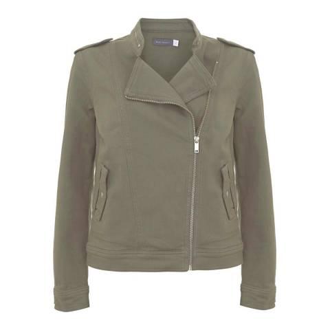 Mint Velvet Khaki Denim Military Jacket