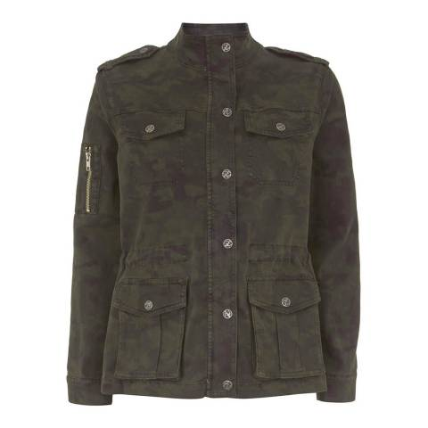 Mint Velvet Camouflage Jacket