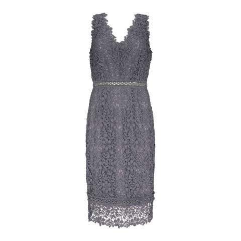 Mint Velvet Grey Eyelet Lace Dress