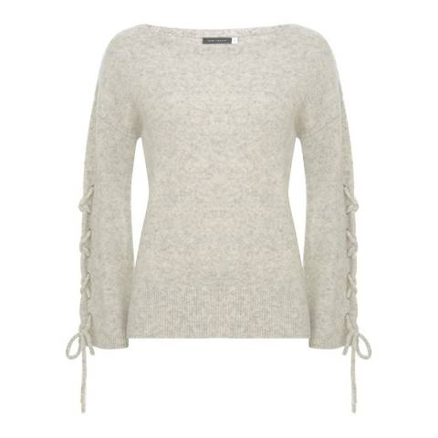 Mint Velvet Oatmeal Lace Up Sleeve Knit