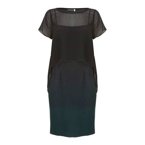 Mint Velvet Ombre Cape Dress