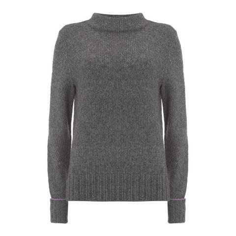 Mint Velvet Charcoal Side Split Knit