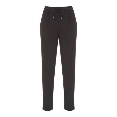 Mint Velvet Black Side Stripe Sports Pant