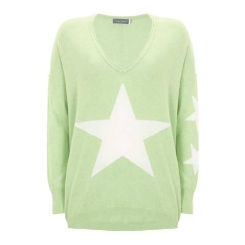 Mint Velvet Lime Star Front Cocoon Knit