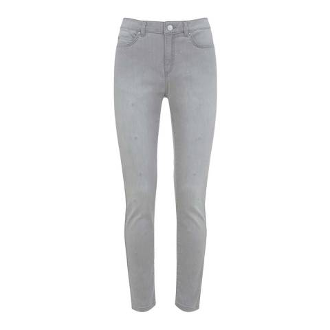 Mint Velvet Paxton Grey Star 5 Pocket Jean