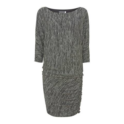 Mint Velvet Black Marl Batwing Dress