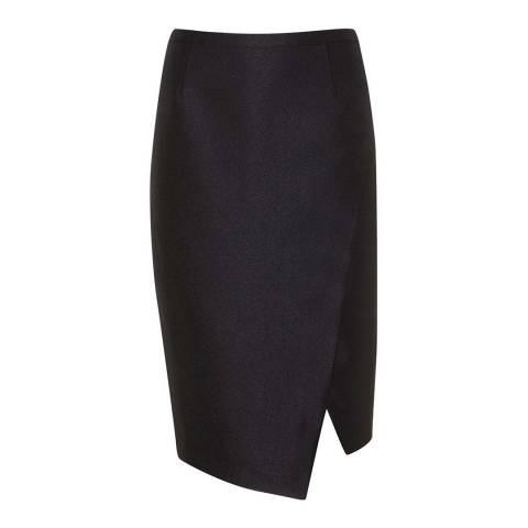 Mint Velvet Black Metallic Pencil Skirt