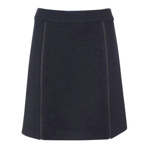 Mint Velvet Ink Boucle Zip Detail Skirt