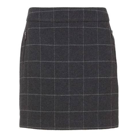 Mint Velvet Grey Check Mini Skirt