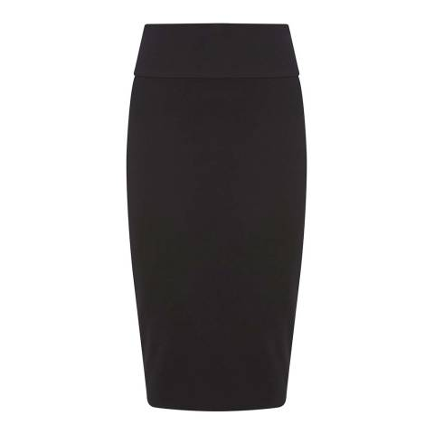 Mint Velvet Black Jersey Tube Skirt