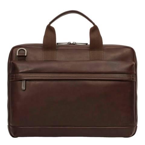 Knomo Brown Barbican Foster Briefcase 14 Inch